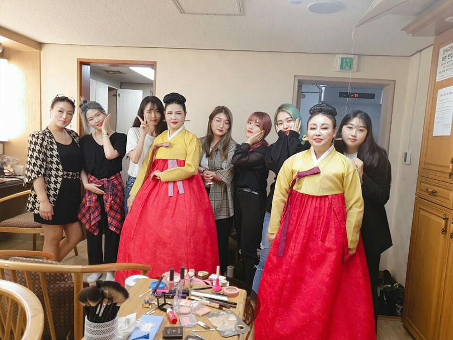 뷰티예술계열 재학생 - 박정욱 서도소리 정기공연 헤어메이크업 스텝참여
