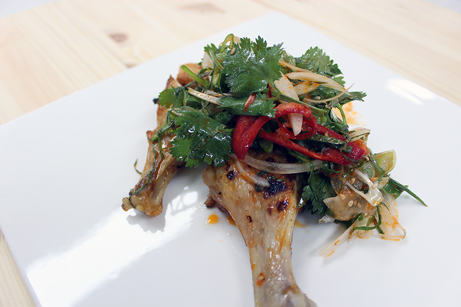 닭다리 구이 요리