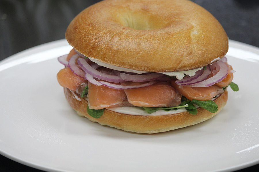 Smoked Salmon Bagel & Honey Soy Chicken