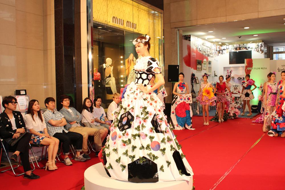 태극기무궁화 패션쇼 의상디자인