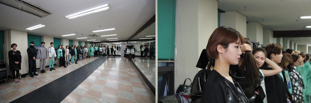 패션디자인 2학년 박린준 2016 F/W 헤라 서울패션위크 GENERATION NEXT 참가 패션쇼 리허설