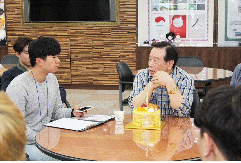 건축계열 재학생들의 이사장님 인터뷰
